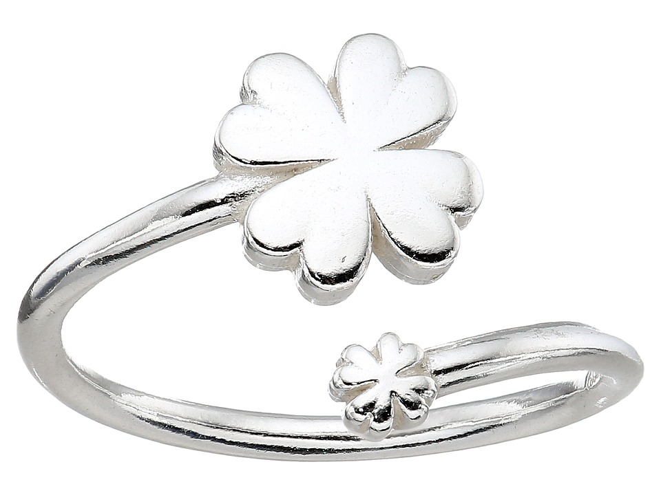 Alex and Ani - Four Leaf Clover Ring Wrap - Precious Metal (Sterling Silver) Ring