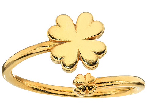 Alex and Ani Four Leaf Clover Ring Wrap - Precious Metal - 14kt Gold Plate