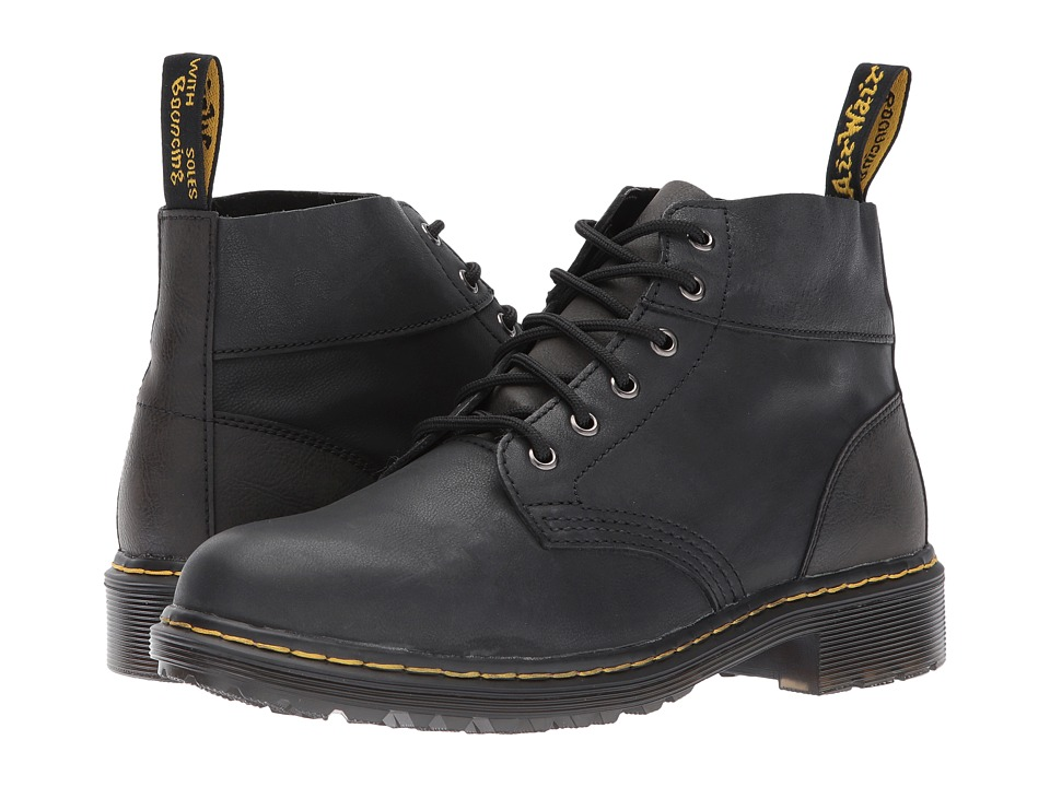 Dr. Martens Horton 6-Eye Chukka Boot (Black Vancouver Synthetic/Black Low Down) Men