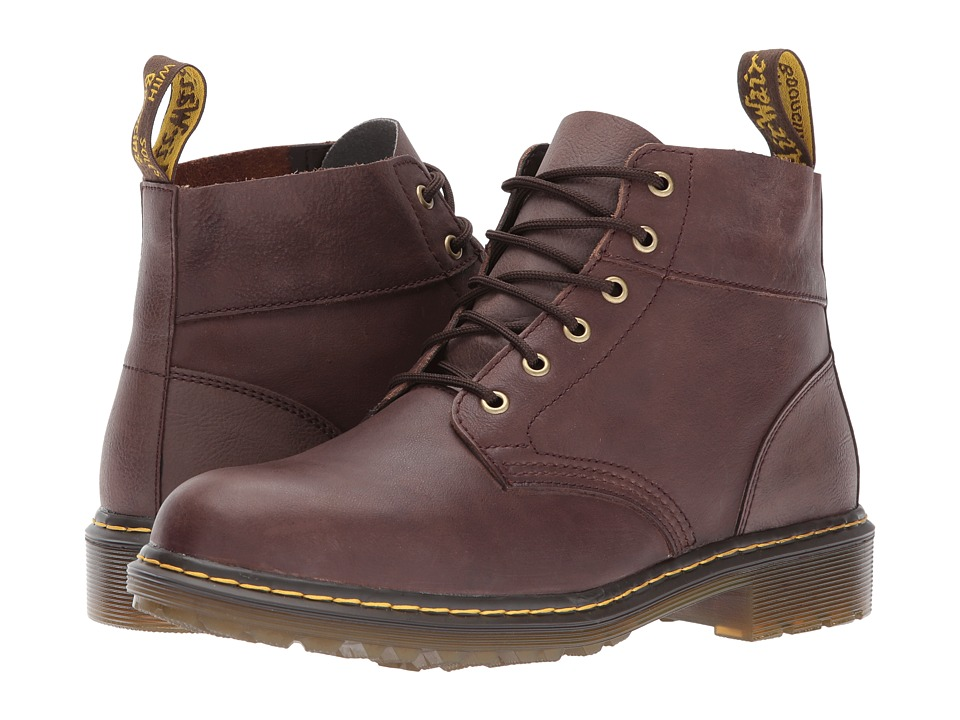 Dr. Martens Horton 6-Eye Chukka Boot (Dark Brown Vancouver Synthetic/Dark Brown Low Down) Men