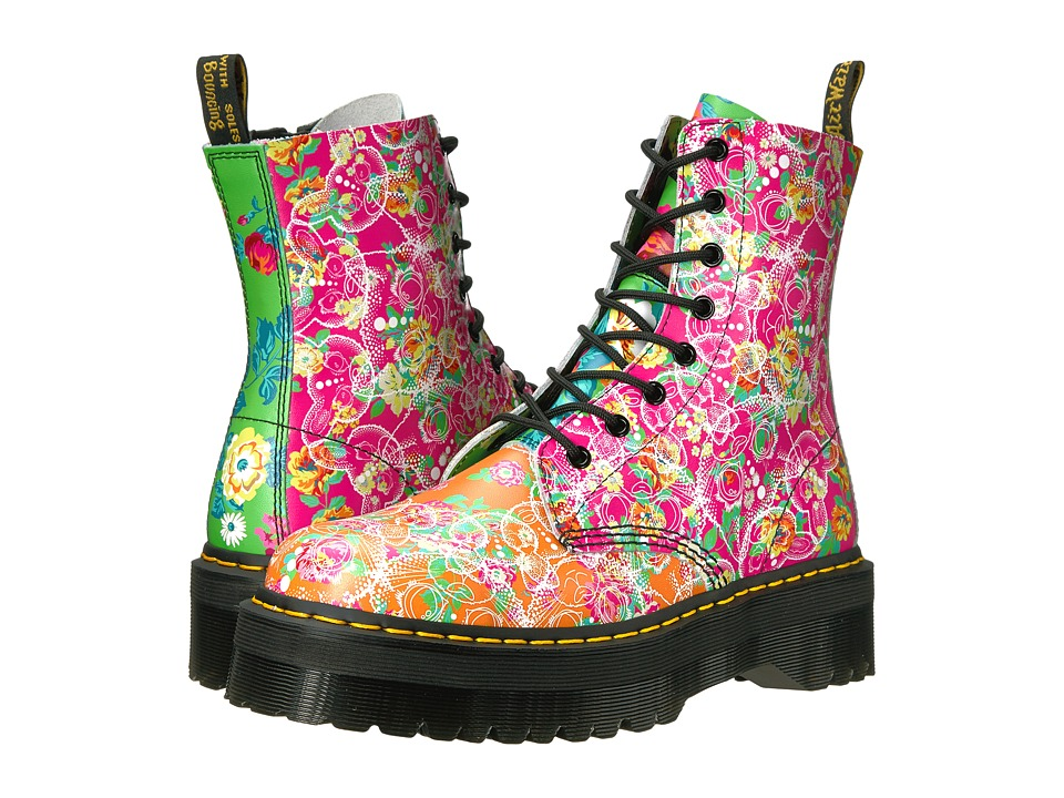 Dr. Martens Jadon Daze 8-Eye Boot (White Backhand/Daze Print) Women