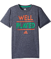 adidas Kids - Well Played Tee (Big Kids)