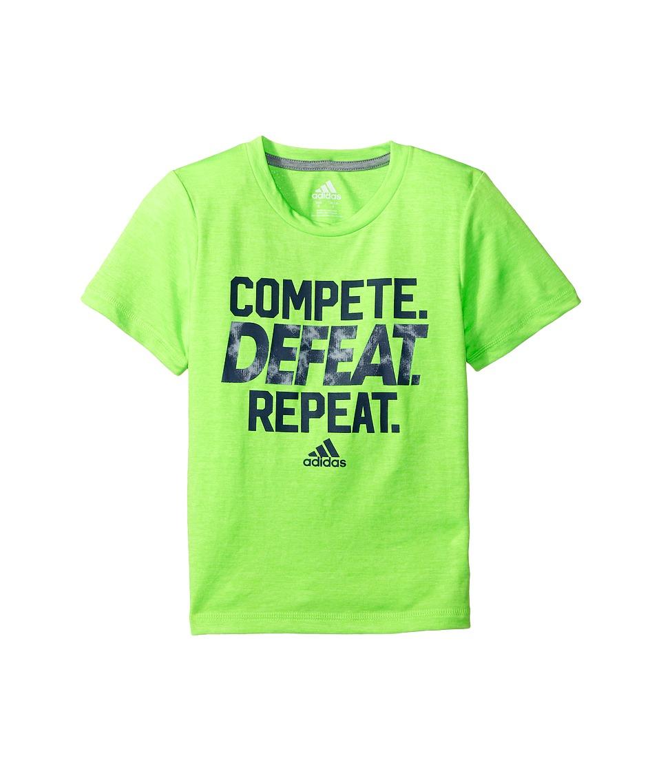 adidas Kids Compete Tee (Big Kids) (Neon Green) Boy