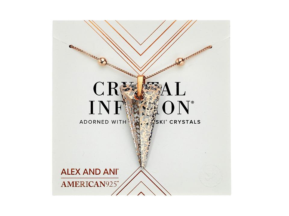 Alex and Ani - Swarovski Crystal Infusion - Rose Glow Spike Pendant Necklace