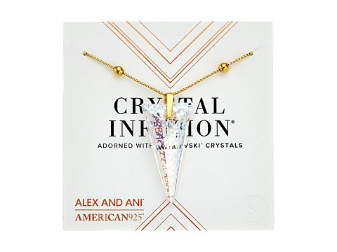 Alex and Ani Swarovski® Crystal Infusion - Golden Ray Spike Pendant Necklace - 14kt Gold Plate
