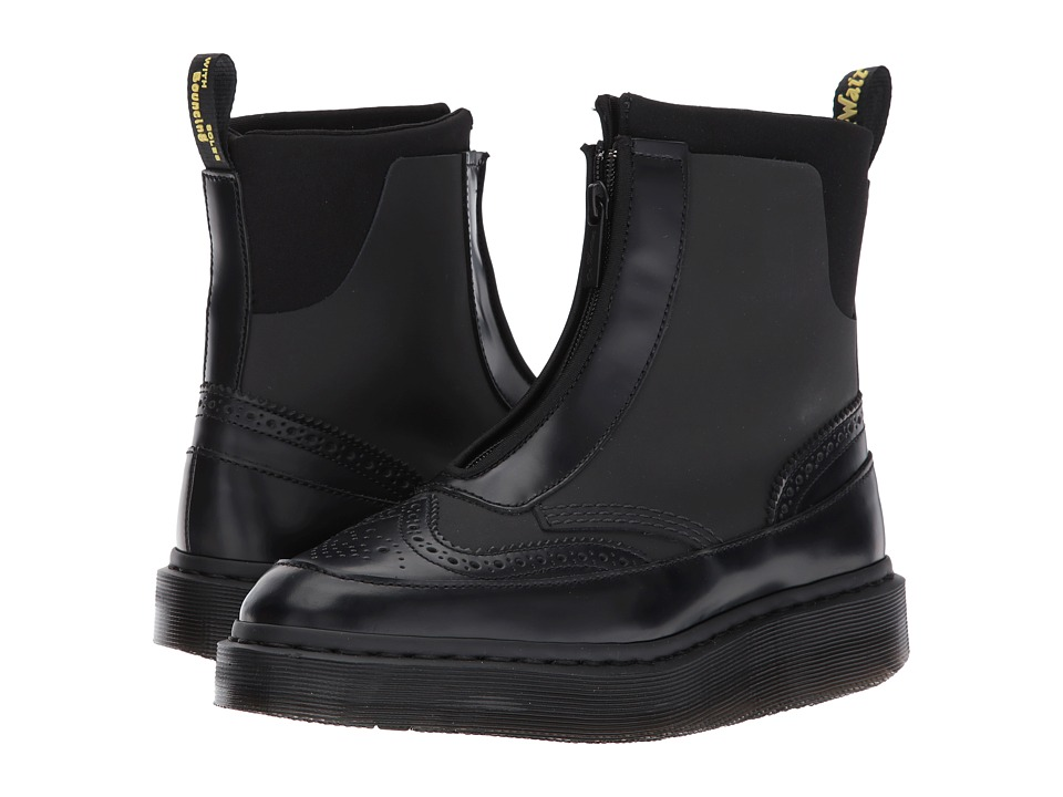 Dr. Martens Jemison Zip Boot (Black Concept/Black Polished Smooth) Women
