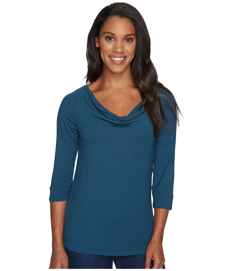 Toad&Co Bel Canto 3/4 Drape Neck (Deep Teal) Women