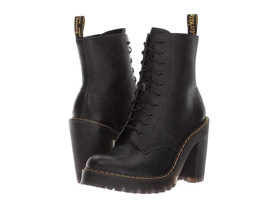 Dr. Martens Kendra 10-Eye Boot (Black Aunt Sally) Women