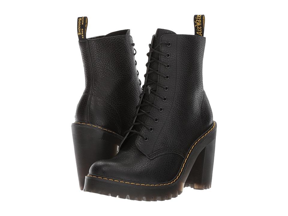Dr. Martens Kendra 10-Eye Boot (Black Aunt Sally) Women