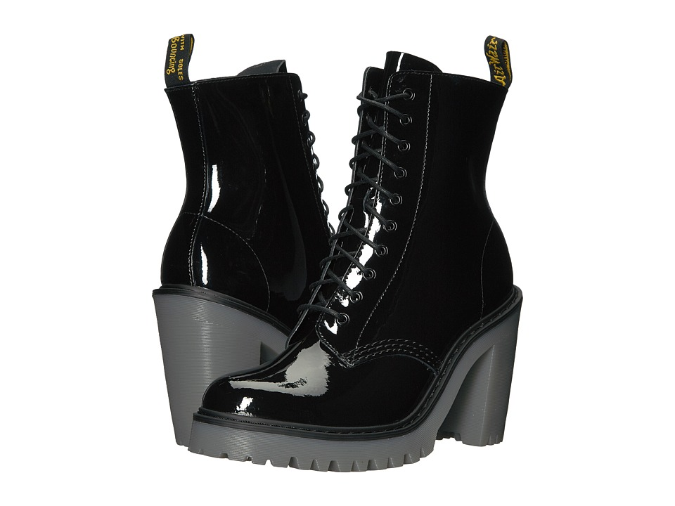 Dr. Martens Kendra 10-Eye Boot (Black Patent Lamper) Women