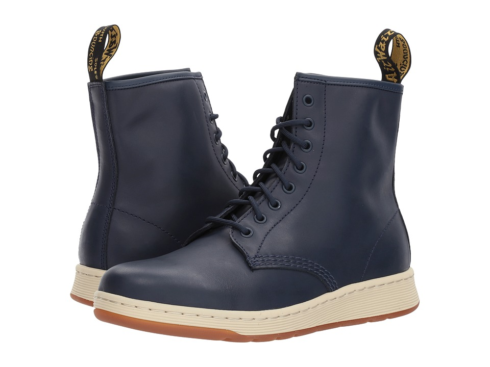 Dr. Martens Newton 8-Eye Boot (Indigo Temperley/Match Indigo Temperley Binding) Lace-up Boots