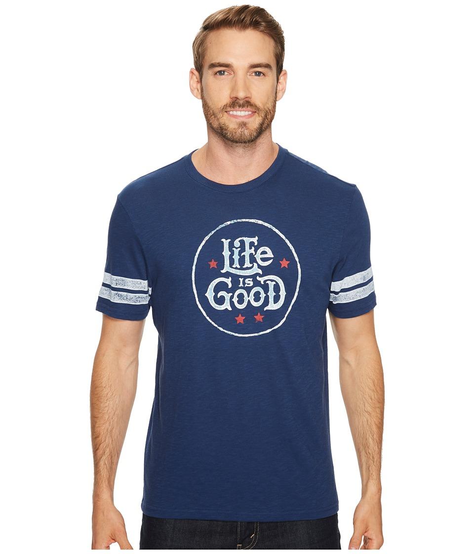 Life is Good Life Is Good(r) Star Stamp Vintage Sport Tee (Darkest Blue) Men