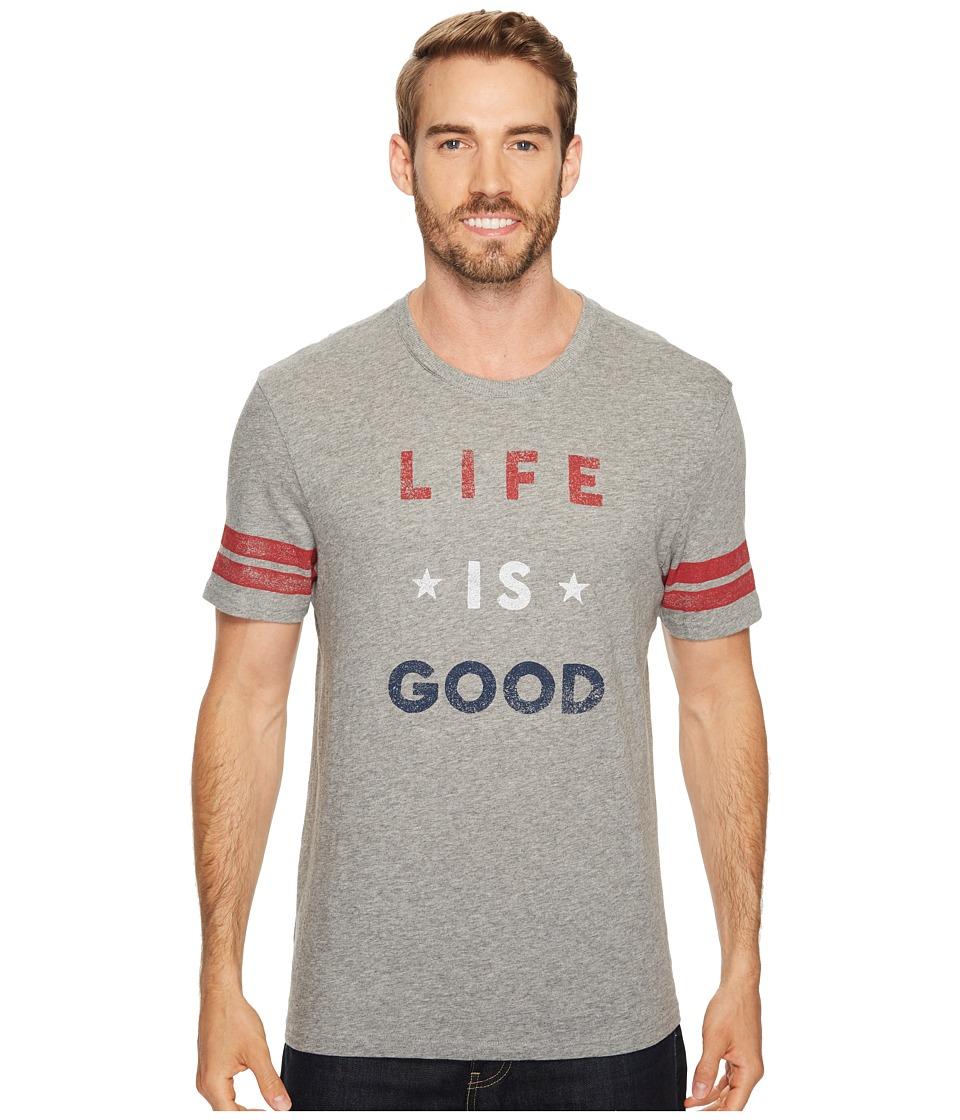 Life is Good Americana Life Is Good(r) Vintage Sport Tee (Heather Gray) Men