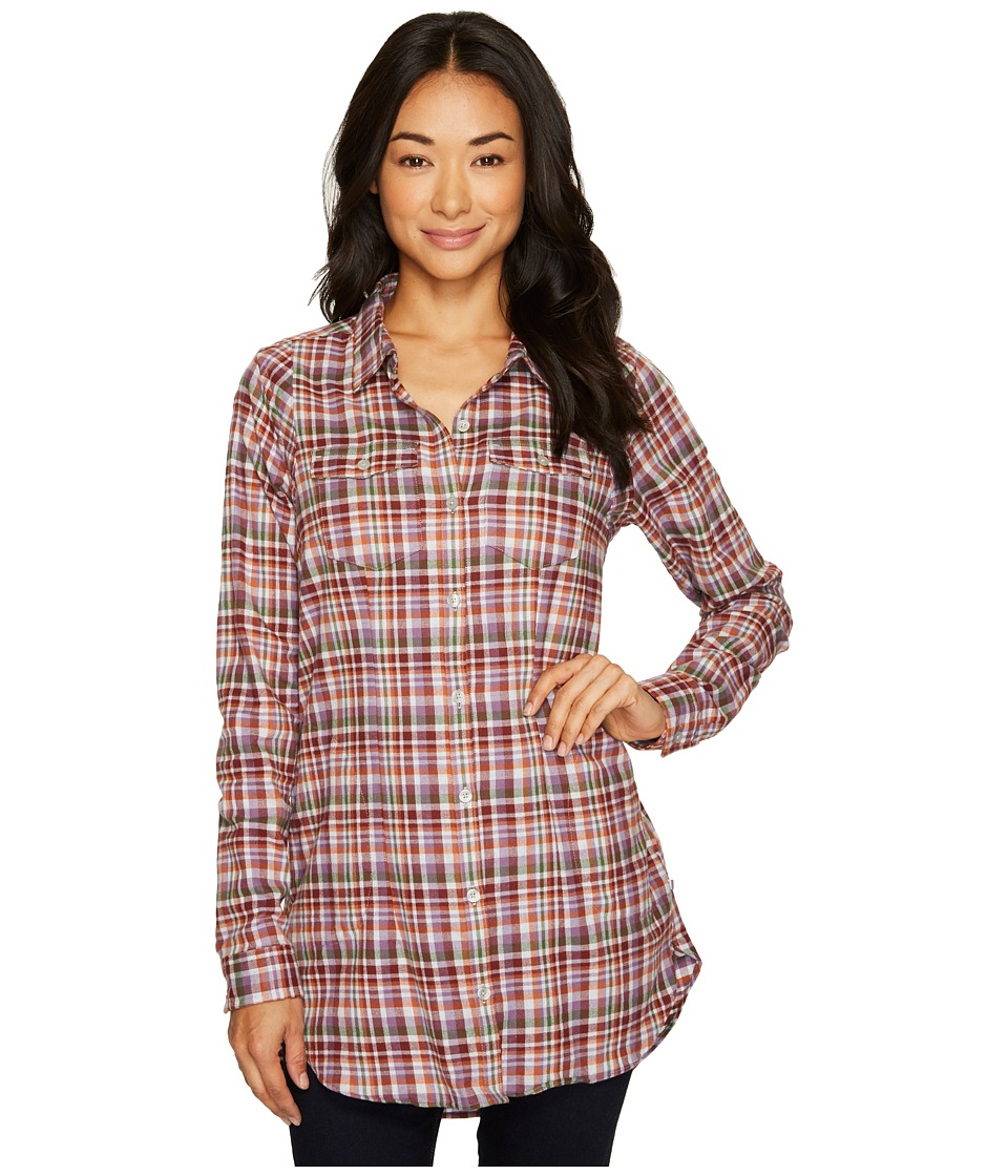 Toad&Co - Lightfoot Tunic (Purple Thistle) Womens Long Sleeve Button Up