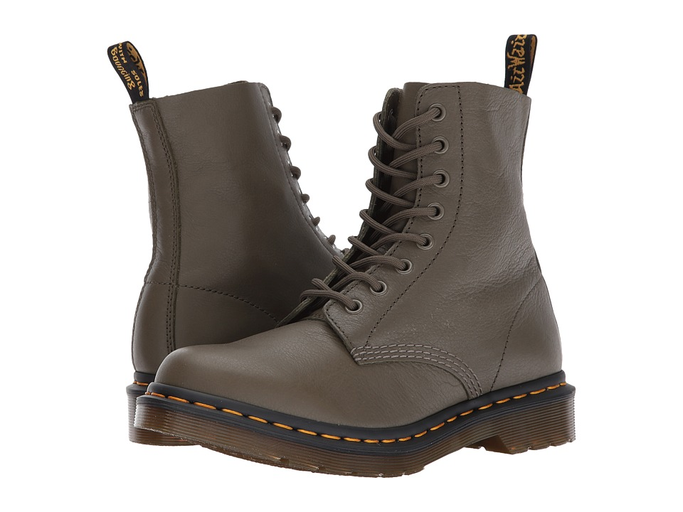 Dr. Martens Pascal 8-Eye Boot (Khaki Virginia) Women