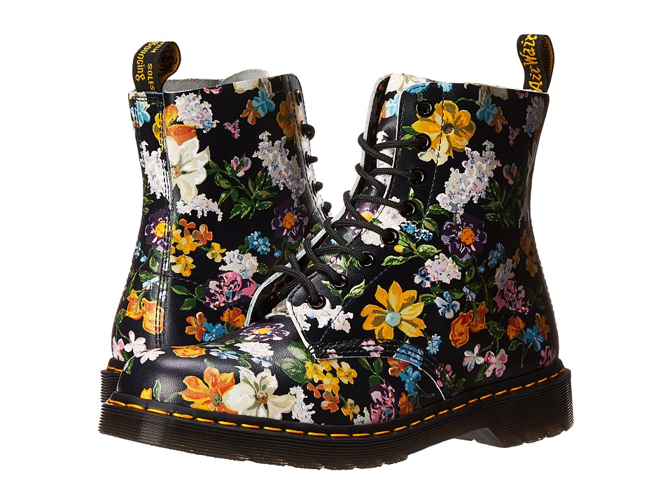 Dr. Martens Pascal Darcy Floral 8-Eye Boot (Black Darcy Floral Backhand) Women