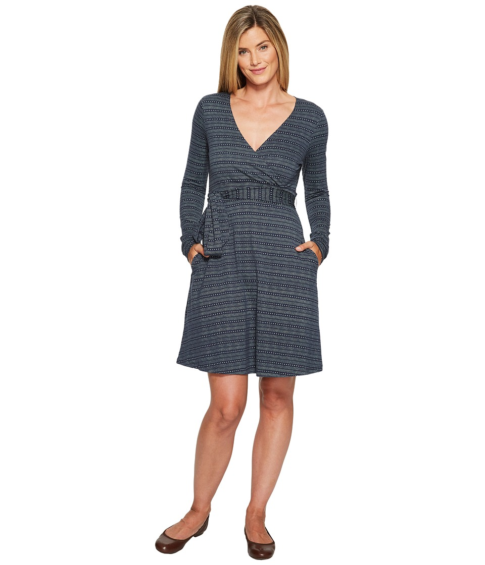 Toad&Co Cue Wrap Dress (Deep Navy Dot Print) Women