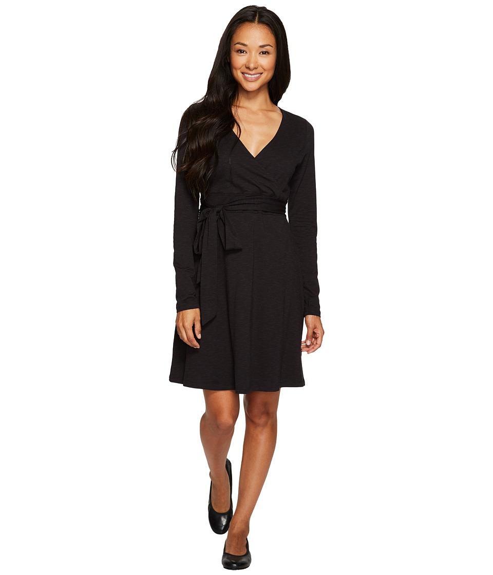 Toad&Co Cue Wrap Dress (Black) Women