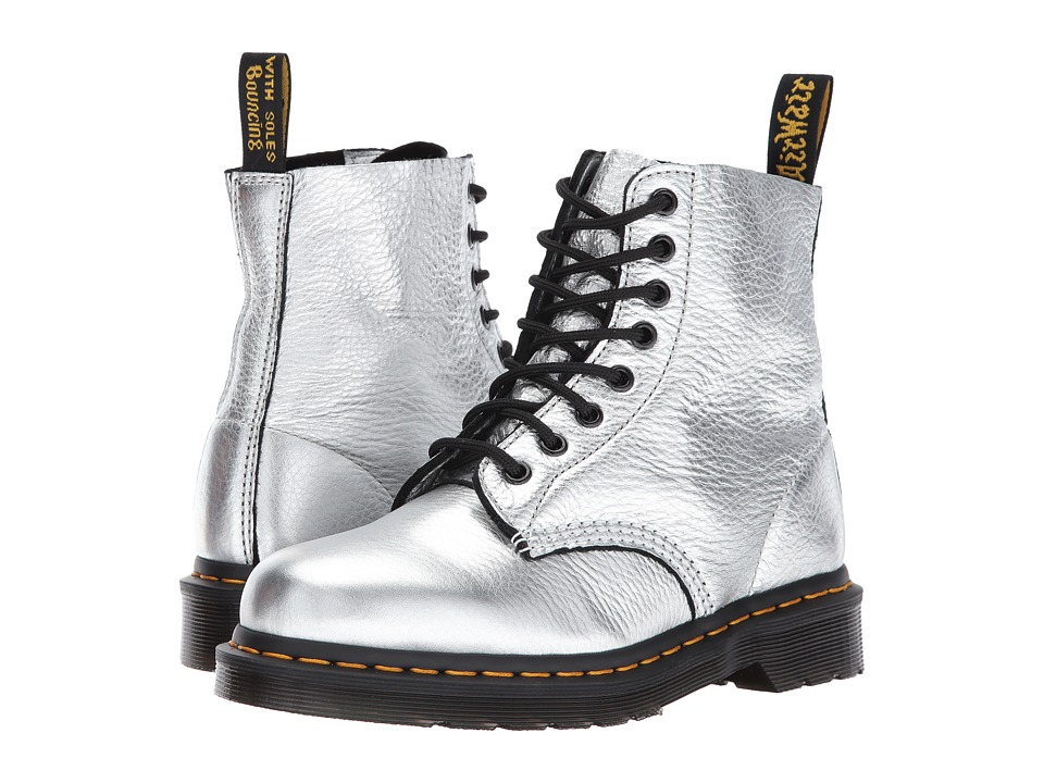 Dr. Martens Pascal Metallic 8-Eye Boot (Silver Santos) Women