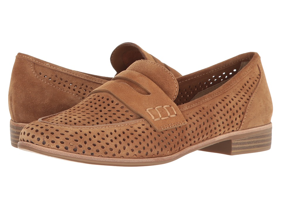 G.H. Bass & Co. Ellie (Camel Suede-Perf) Women