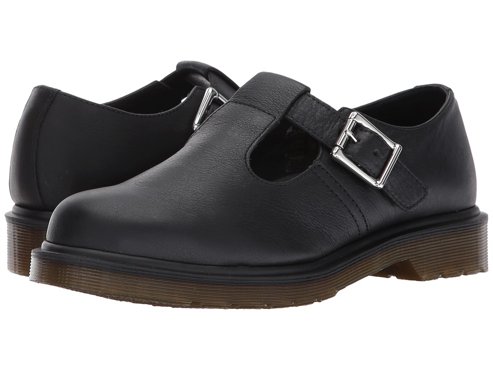 Dr. Martens Polley PW T-Bar Mary Jane (Black Virginia) Women