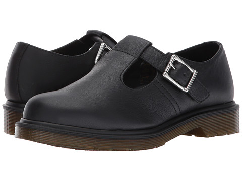 Dr. Martens Polley PW T-Bar Mary Jane - Black Virginia
