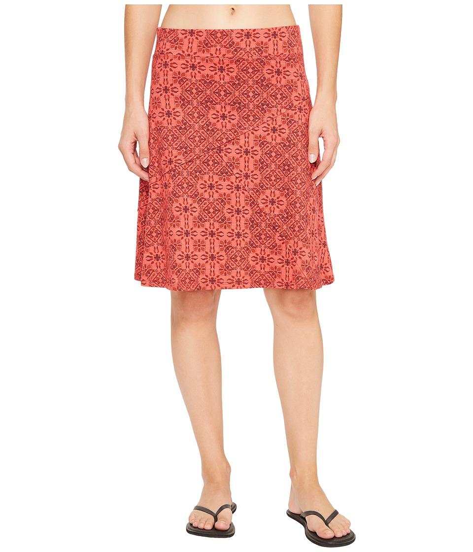 Toad&Co Oblique Skirt (Cranberry Patchwork Print) Women