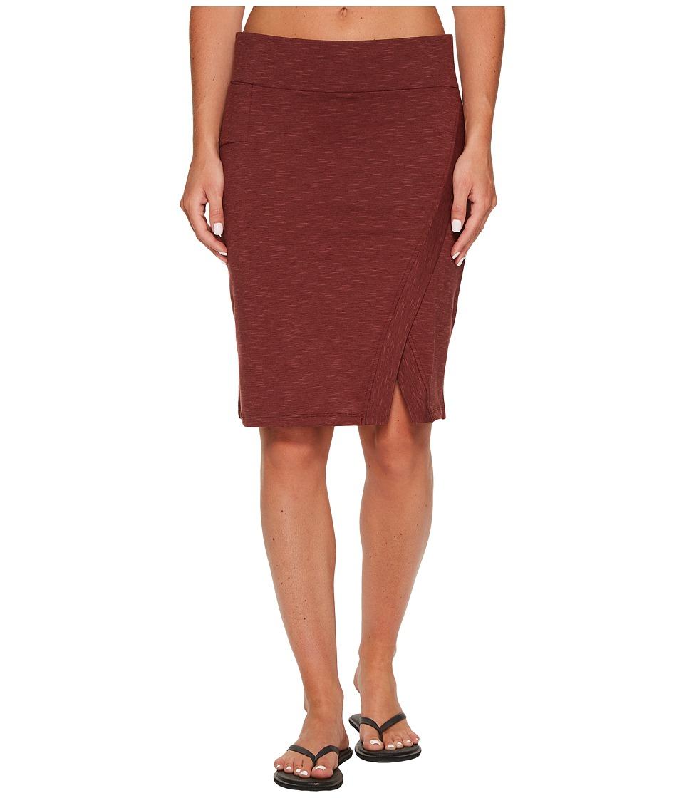 Toad&Co Moxie Skirt (Mahogany) Women