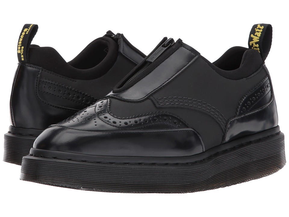 Dr. Martens Resnik Zip Brogue (Black Concept/Black Polished Smooth) Women