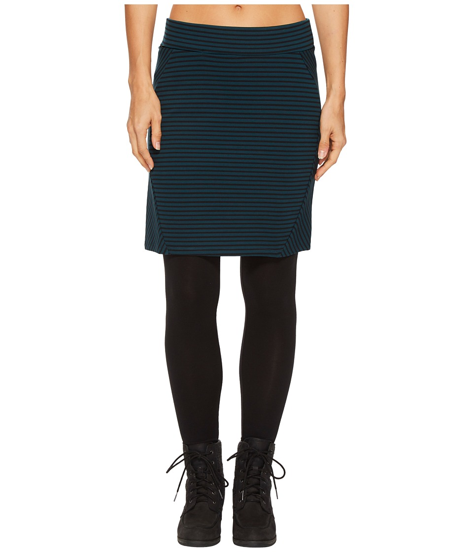 Toad&Co Transita Skirt (Deep Teal Stripe) Women