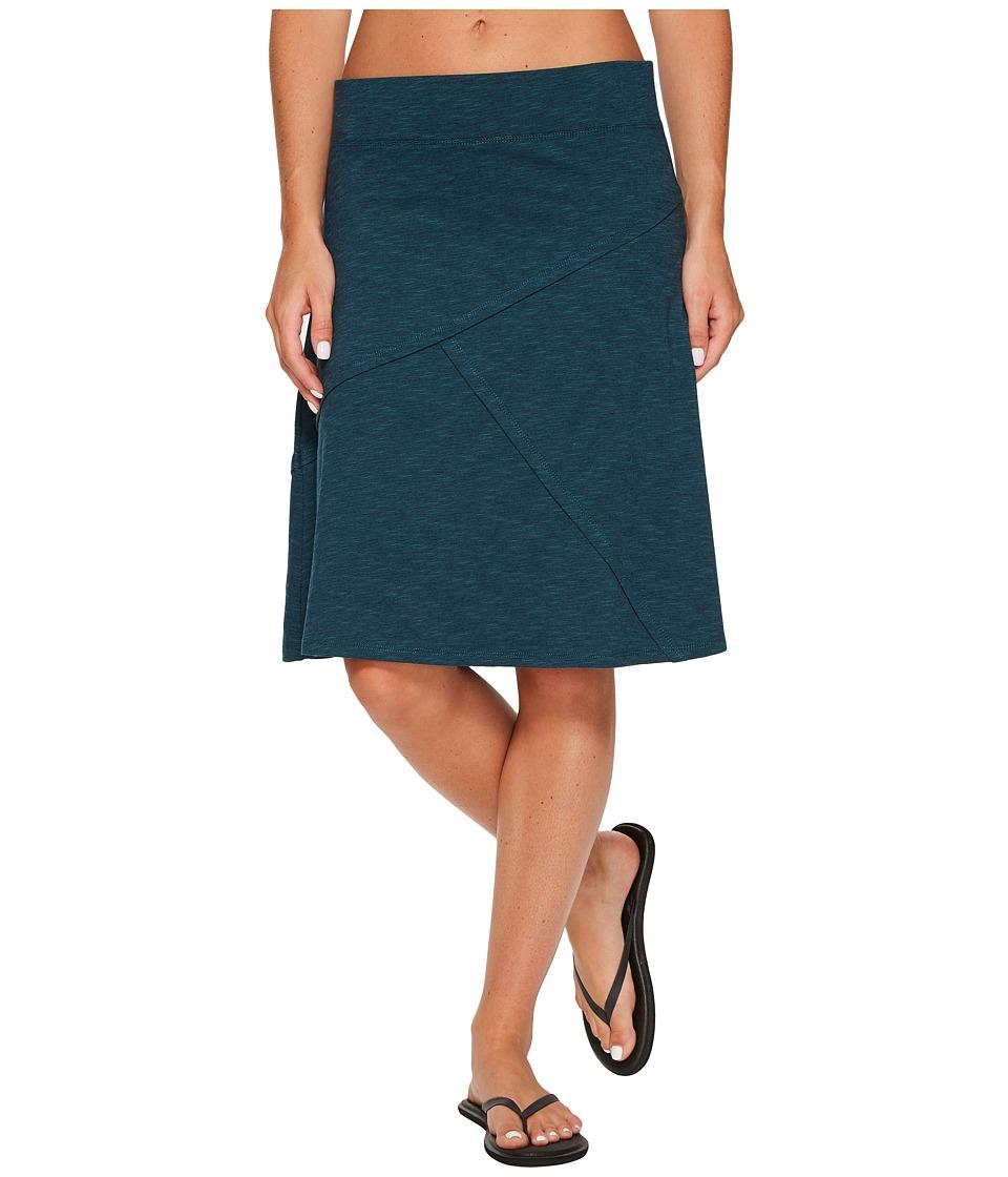 Toad&Co Oblique Skirt (Deep Teal) Women