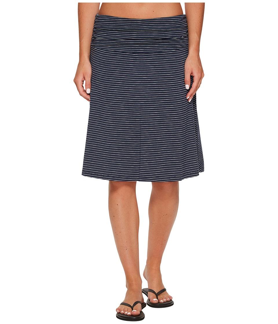 Toad&Co Chaka Skirt (Deep Navy Thin Stripe) Women