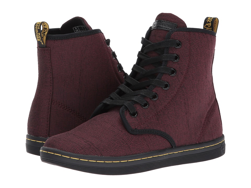 Dr. Martens Shoreditch 7-Eye Boot (Cherry Red Serge) Women