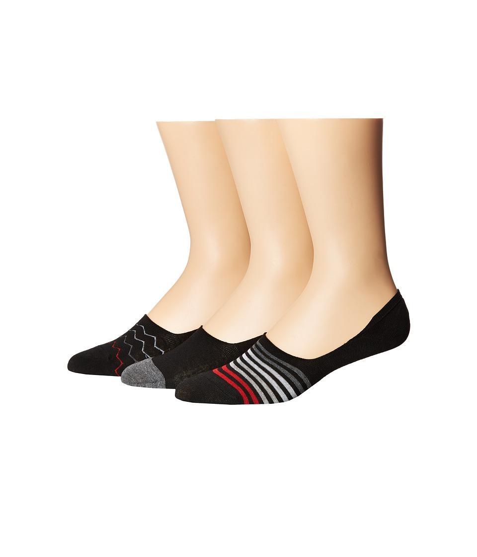 Steve Madden 3-Pack Shoe Liners Stripes (Black/Chevron) Men