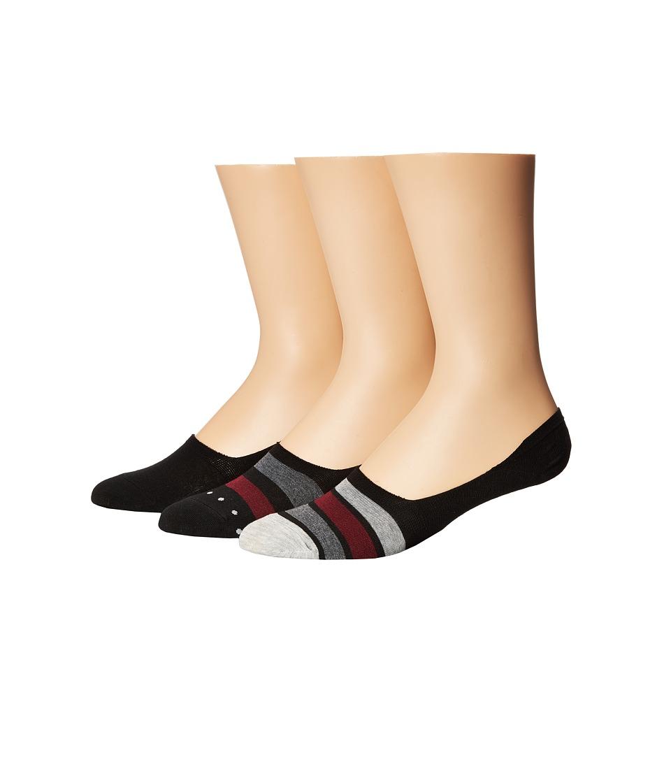 Steve Madden 3-Pack Shoe Liners Stripes (Black/Stripes) Men