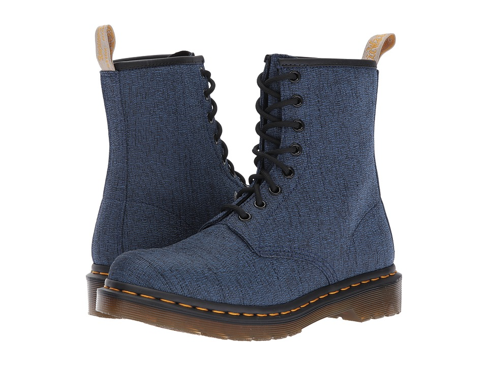 Dr. Martens Vegan Castel 8-Eye Boot (Indigo Serge) Women