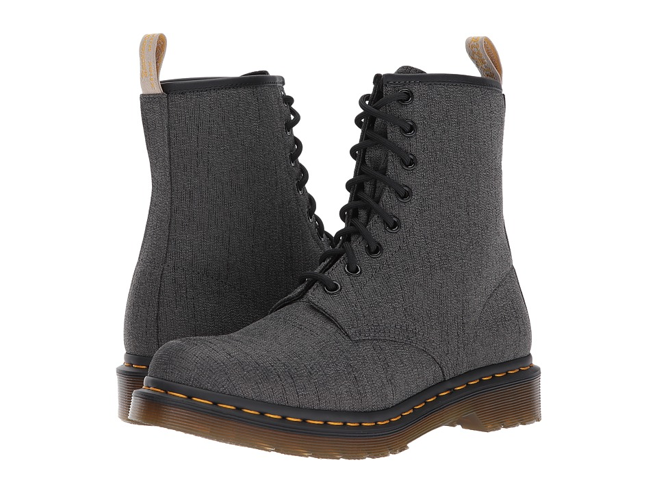 Dr. Martens Vegan Castel 8-Eye Boot (Gunmetal Serge) Women