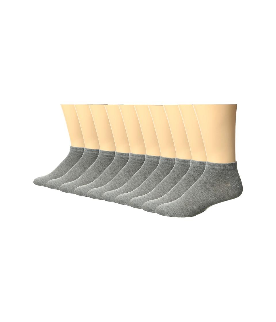 Steve Madden 10-Pack Low Cut Liner (Grey) Men
