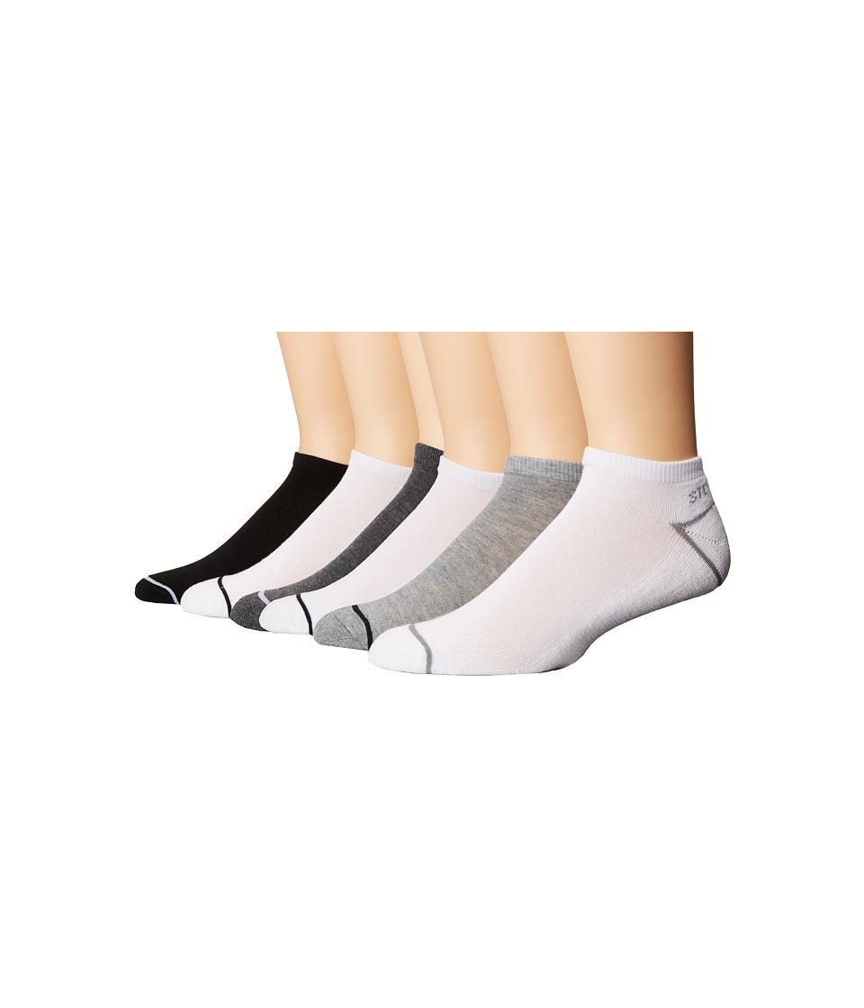 Steve Madden 6-Pack Low Cut Athletic (White 2) Men