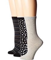 Steve Madden - 3-Pack Pattern Crew Socks