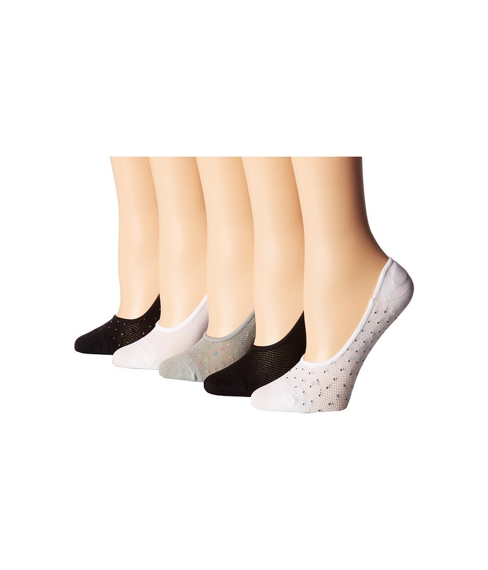 Steve Madden - 5-Pack Footies (Grey/White/Black) Women's Crew Cut Socks Shoes