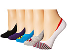 Steve Madden - 5-Pack Embroidery Footie