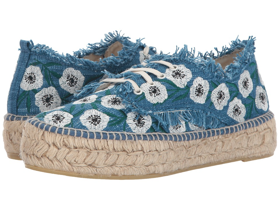 Loeffler Randall Alfie (Indigo/Anemone Woven Embroidery) Women