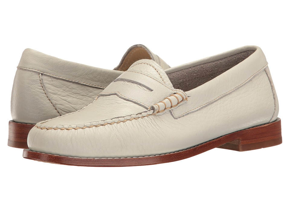 1960s Mens Shoes- Retro, Mod, Vintage Inspired G.H. Bass amp Co. - Whitney Weejuns Soft Grey Soft Tumbled Leather Womens Shoes $110.00 AT vintagedancer.com