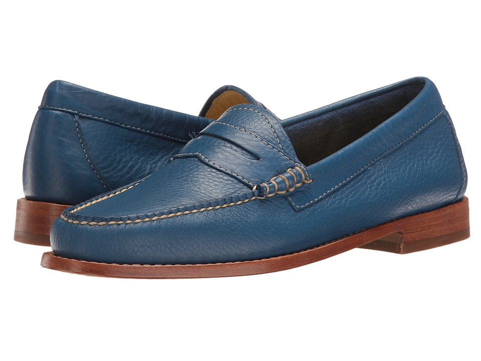 G.H. Bass & Co. Whitney Weejuns (Cobalt Soft Tumbled Leather) Women
