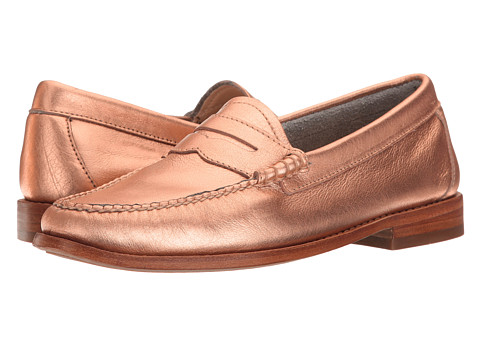 G.H. Bass & Co. Whitney Weejuns - Copper Metallic Leather