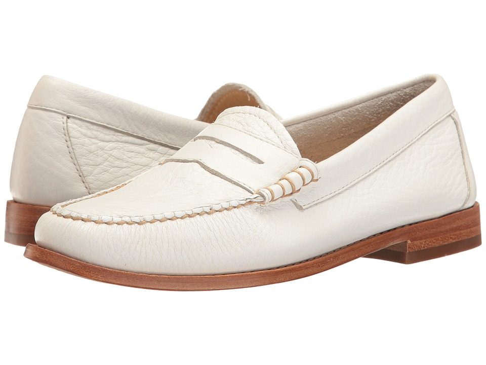 G.H. Bass & Co. Whitney Weejuns (White Soft Tumbled Leather) Women
