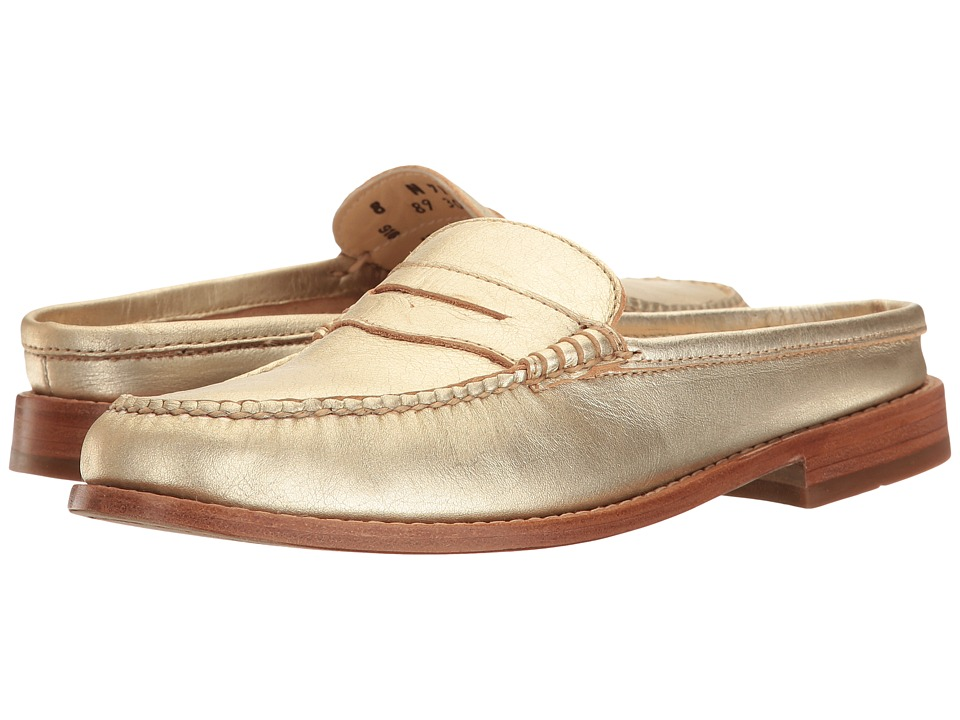 G.H. Bass & Co. Wynn Weejuns (Gold Metallic Leather) Women's Shoes