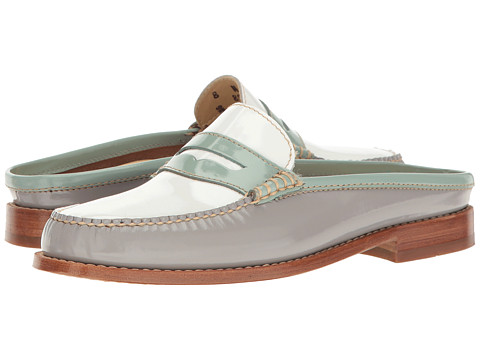 G.H. Bass & Co. Wynn Weejuns - Light Blue/Grey Patent Leather