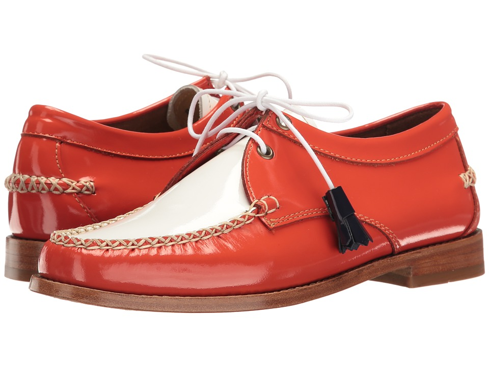 G.H. Bass & Co. Winnie Weejuns (Poppy/White Patent Leather) Women